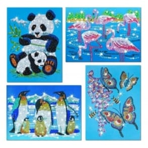 Sequin Art and Beads Wildlife 4 Pack
