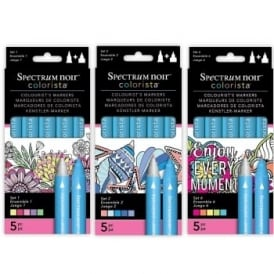 Set 1+3+6 Spectrum Noir Colorista 15 Markers Bundle