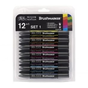 Set 1 BrushMarker set of 12 plus Blender