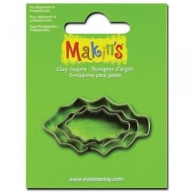 Set of 3 Holly Leaf Shape Cutters