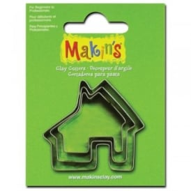 Set of 3 House Shape Cutters