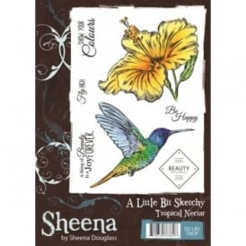 Sheena Douglas Tropical Nectar 7 Piece stamp Set