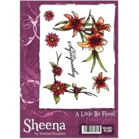 Sheena Douglass A Little Bit Floral A6 Stamp Set - Floral Corners Stamp