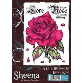 Sheena Douglass Gothic Every Rose 3 Piece Stamp Set
