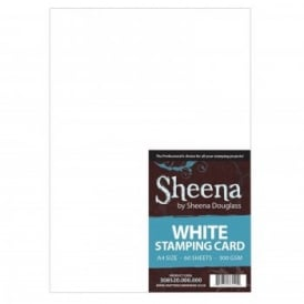 Sheena: White Stamping Card