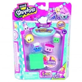 Shopkins Season 6 Chef Club Assorted Pack of 5