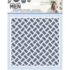 Signature Just for Men Collection - Checkerplate 6x6 Embossing Folder