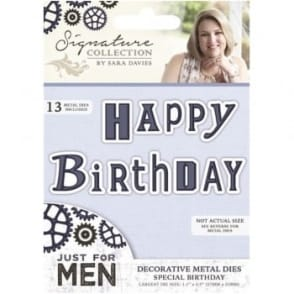 Signature Just for Men Collection - Special Birthday Die
