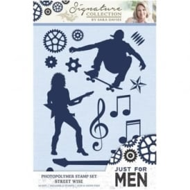 Signature Just for Men Collection - Street Wise A6 Photopolymer Stamp