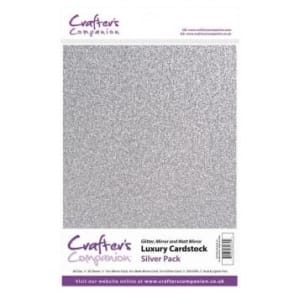 Silver Luxury Cardstock Glitter, Matt and Mirror 30 Sheets