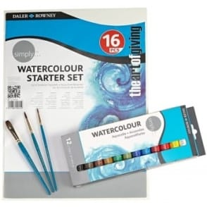 Simply 16 Piece Watercolour Starter Set