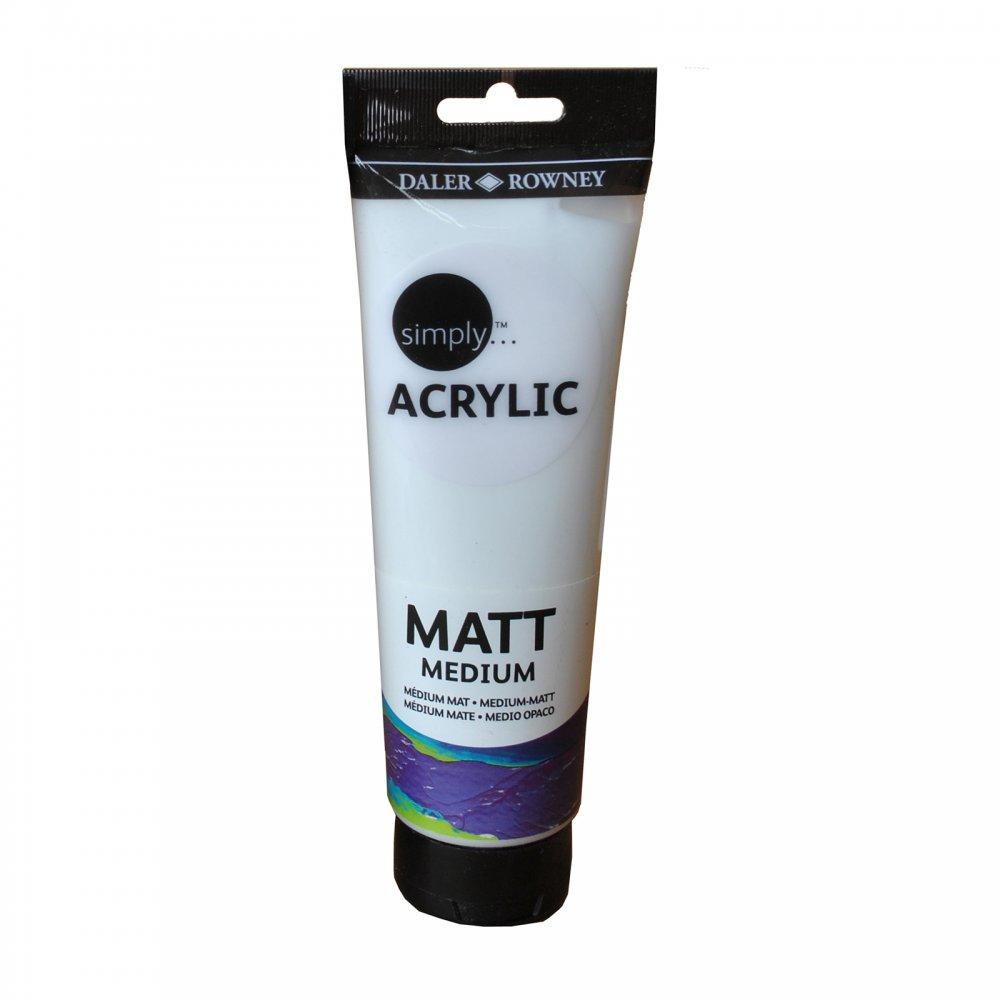 Simply Acrylic Matt Medium 250ml Daler Rowney From