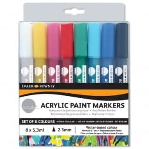 Simply Acrylic Paint Markers - 8 Pack