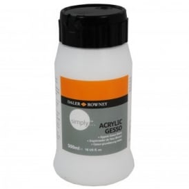 Simply Acrylic White Gesso Primer 500ml
