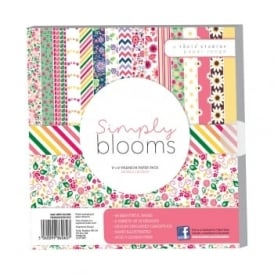"Simply Bloom 8"" by 8"" Paper Pack - 48 Sheets 160gsm"