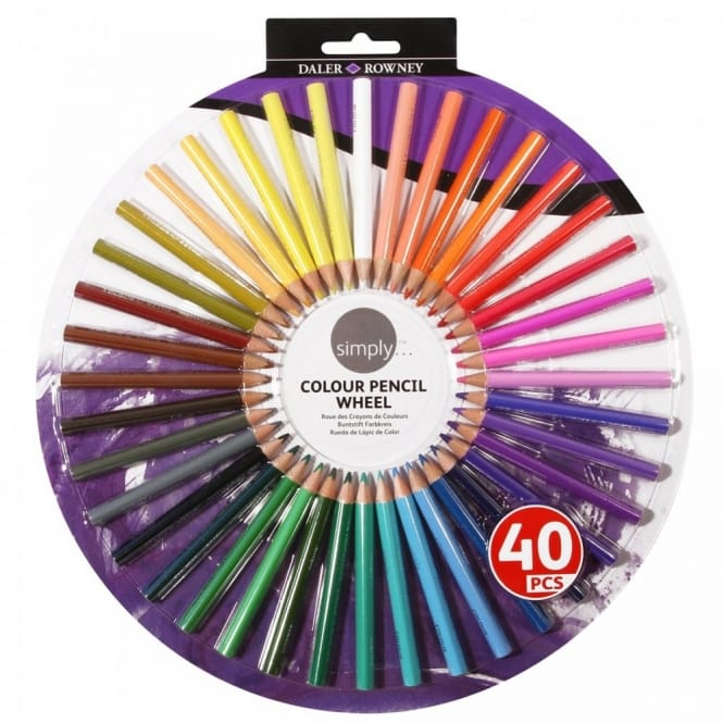 Simply Colour Pencil Wheel 40 Pieces