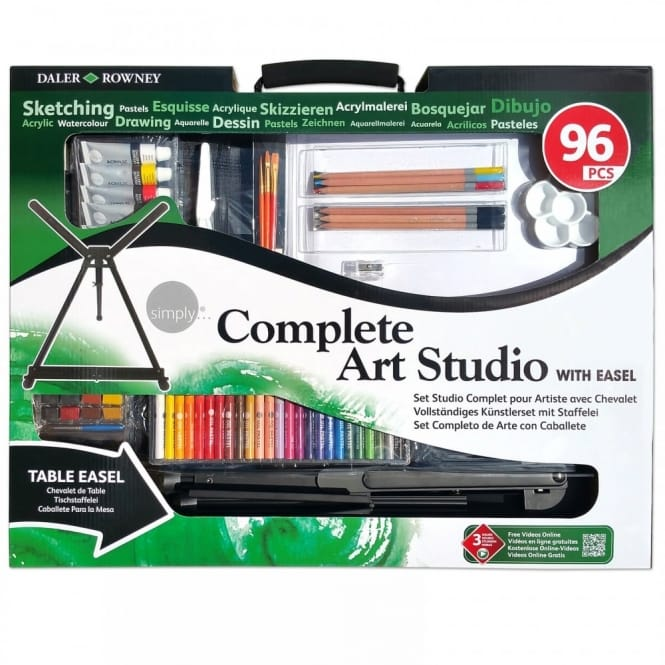 Simply Complete Art Studio with Easel  96 pieces