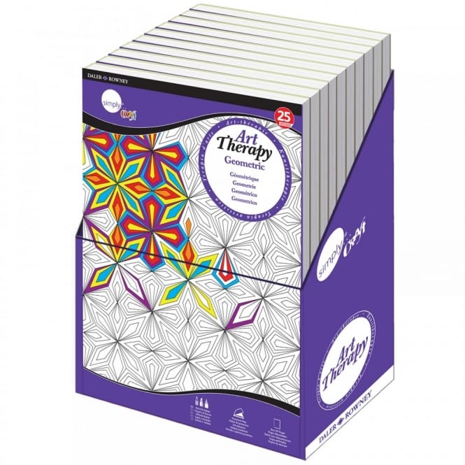 Simply Craft Art Therapy Colouring Book - Geometric