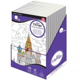 Simply Craft Art Therapy Colouring Book - World Monuments