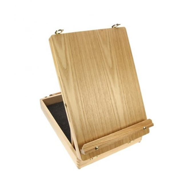 Simply Wooden Box Table Easel with Carry Handle