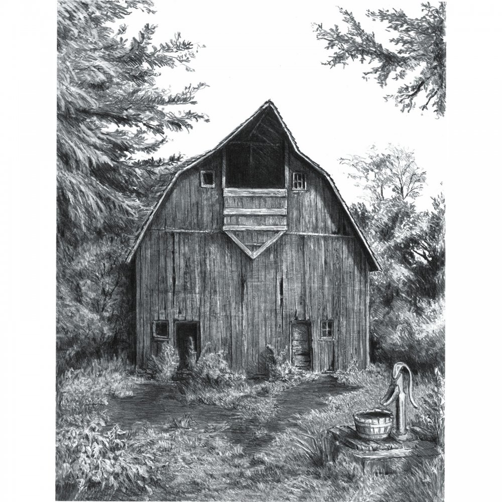Sketching Made Easy Old Country Barn Craftyarts Co Uk