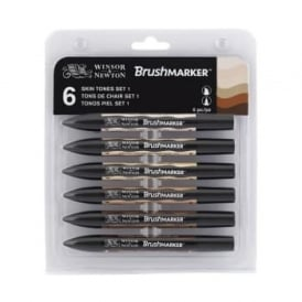 Skin Tones BrushMarker set of 6