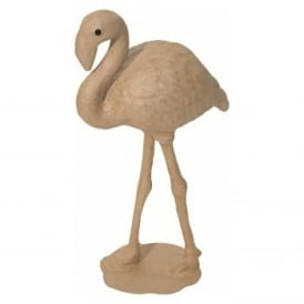 Small Papermache Flamingo