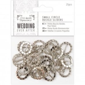 Small Round Buckle Sliders 25pc