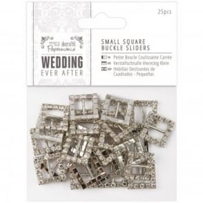 Small Square Buckle Sliders 25pc