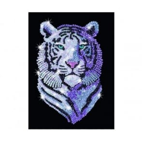 Snow Tiger - Sequin Art