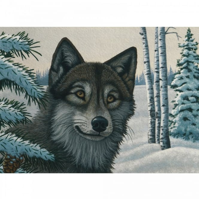 Snow Wolf Large Paint By Numbers