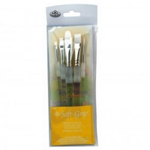 Soft Grip Brushes - Super Value Taklon Pack