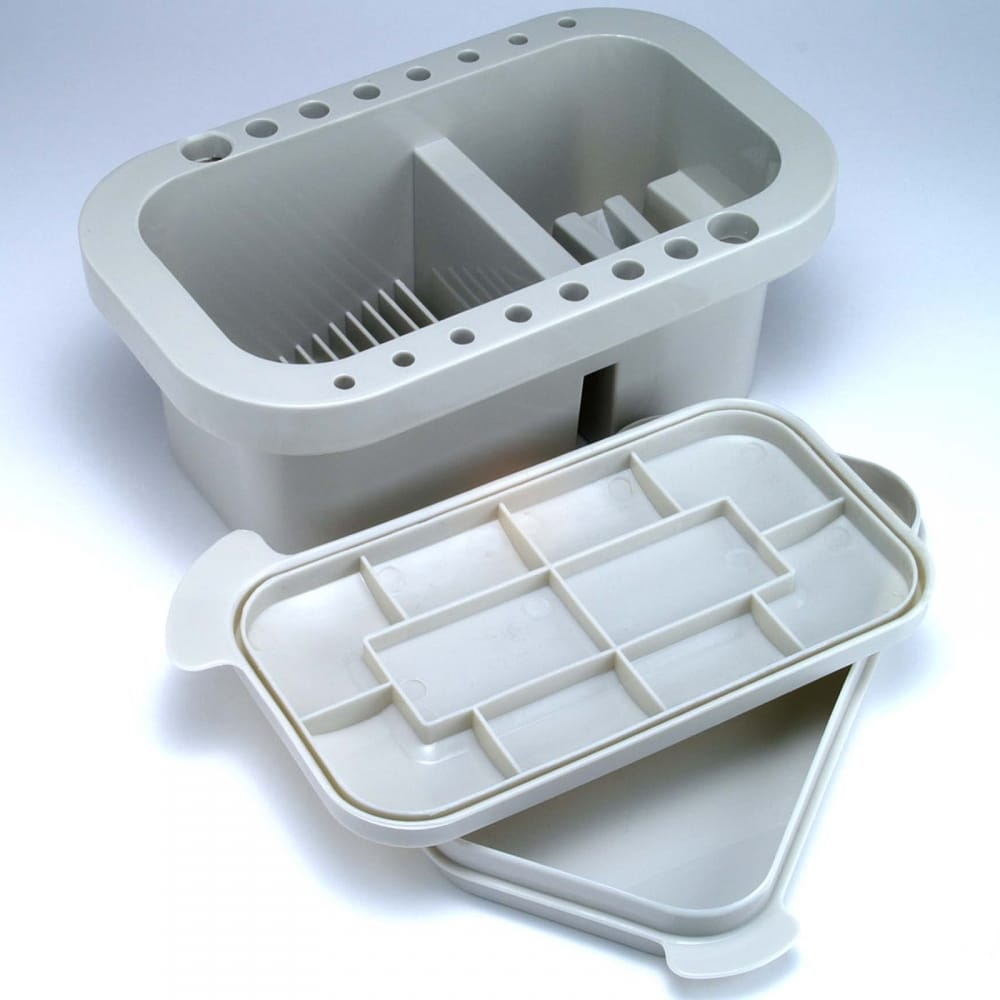 Solid Plastic Brush Holder Tub With Intergrated Palette/Lid ...