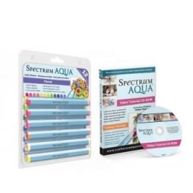 Spectrum Aqua Pens Floral 12 Pack and DVD Bundle