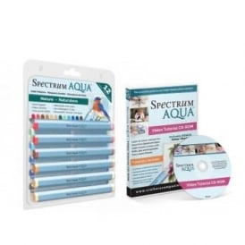 Spectrum Aqua Pens Nature 12 Pack  & DVD Bundle