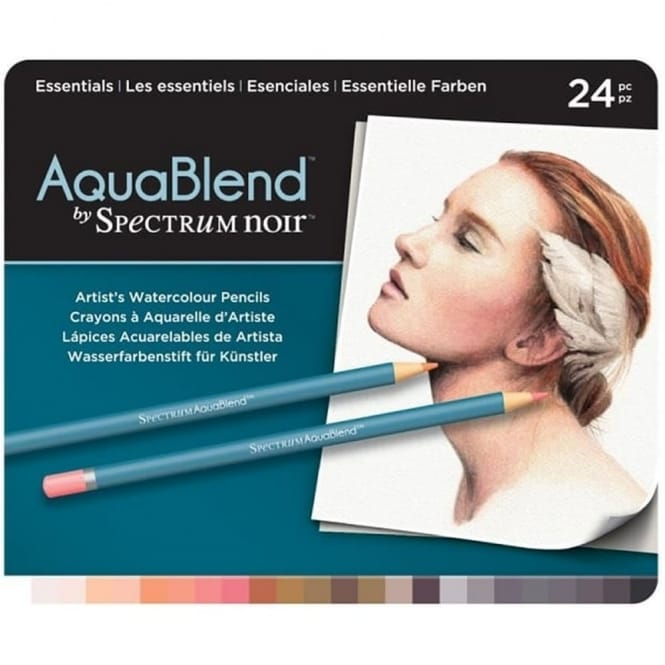 Spectrum Noir Aqua Blend 24 Pencils - Essentials