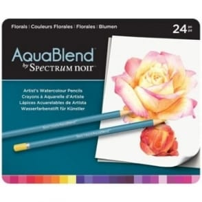 Spectrum Noir Aqua Blend 24 Pencils - Floral