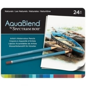 Spectrum Noir Aqua Blend 24 Pencils - Naturals