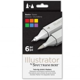 Spectrum Noir Illustrator 6 Pen Pack - Basics