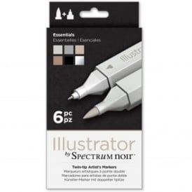 Spectrum Noir Illustrator 6 Pen Pack - Essentials