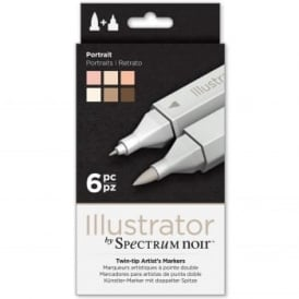 Spectrum Noir Illustrator 6 Pen Pack - Portrait Skin Tones