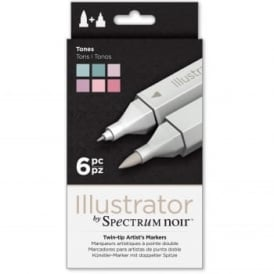 Spectrum Noir Illustrator 6 Pen Pack - Tones