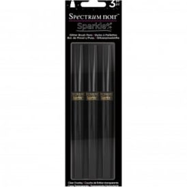 Spectrum Noir Sparkle Brush Pens - Crystal Clear 3 Pack