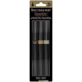 Spectrum Noir Sparkle Brush Pens - Metallics 3 Pack
