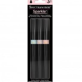 Spectrum Noir Sparkle Brush Pens - Perfect Pastels 3 Pack