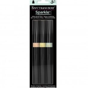 Spectrum Noir Sparkle Brush Pens - Shades of Spring 3 Pack
