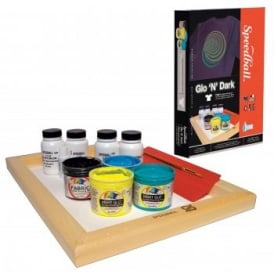 Speedball Glow in the Dark Fabric Screen Printing Kit
