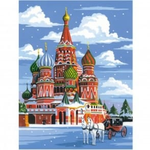 St Basils Cathedral Medium Painting by Numbers