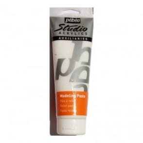 Studio Acrylics Auxiliaries White Sand Texture Gel 250ml