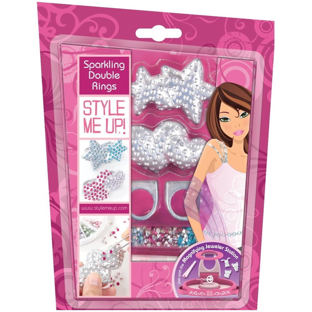 Style me up glitzy double rings Style me up fashion trim rings